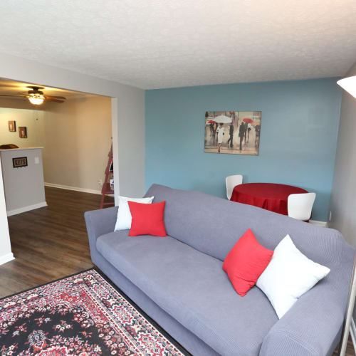 Spacious living room at Willowbrook Apartments in Louisville, Kentucky