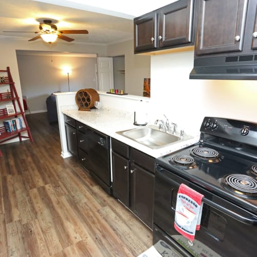 Kitchen space at Willowbrook Apartments in Louisville, Kentucky