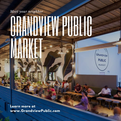 Grandview public market near The District Flats in West Palm Beach, Florida