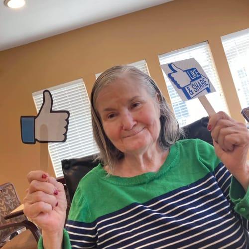 Resident facebook at Oxford Glen Memory Care at Carrollton in Carrollton, Texas
