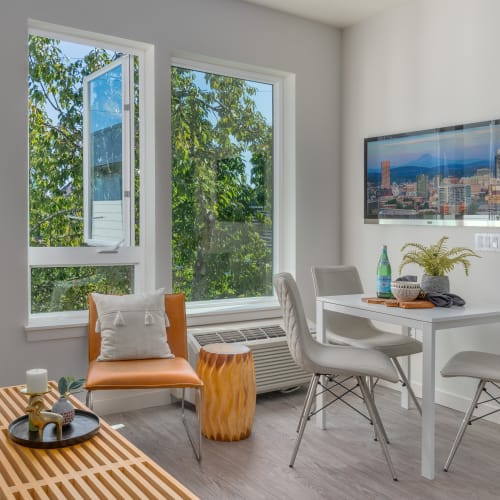 Bright living area at one of our properties at Coast Property Management in Everett, Washington