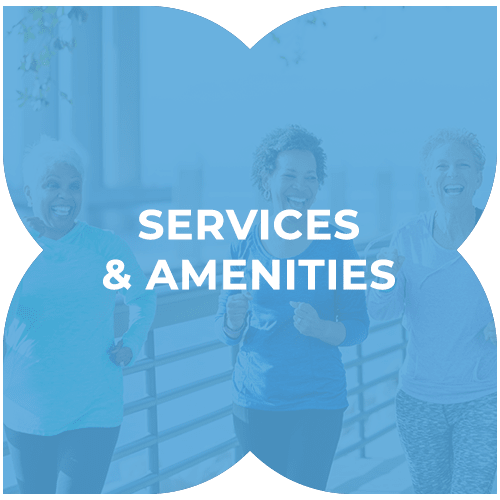 Services and amenities at Harmony at Tucker Station in Louisville, Kentucky