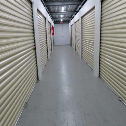 Interior storage units at Stop-N-Go Storage in Jacksonville, Florida