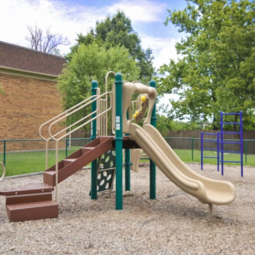 An onsite playground at Tanglewood Apartments in Louisville, Kentucky