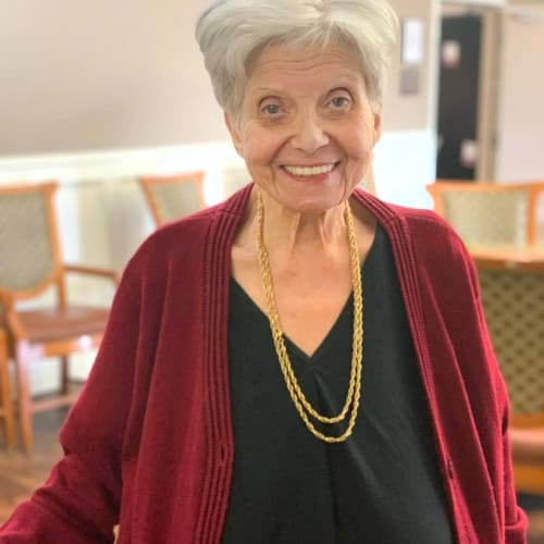 A smiling resident at FountainBrook in Midwest City, Oklahoma