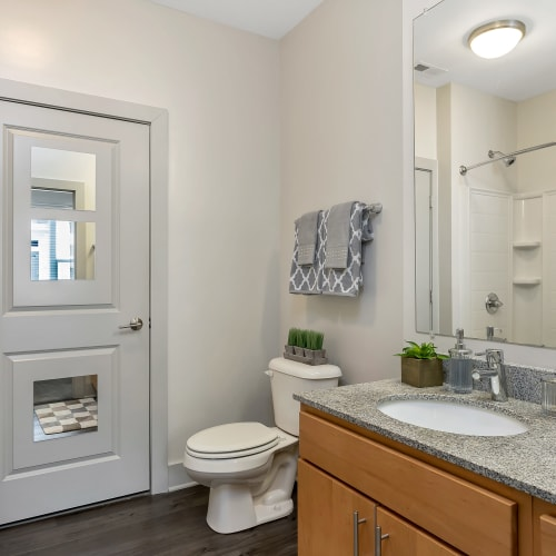 Model Bathroom at Gantry Apartments in Cincinnati, Ohio