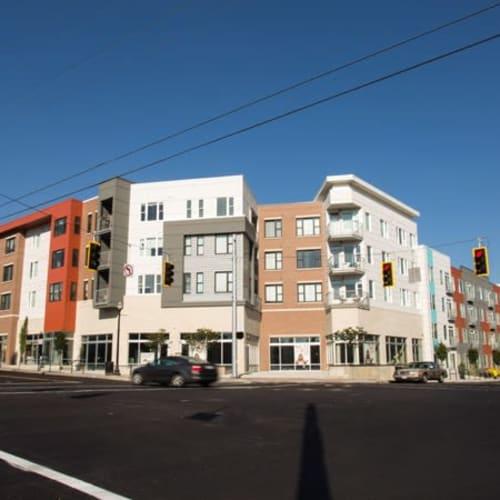 Exterior of Gantry Apartments in Cincinnati, Ohio