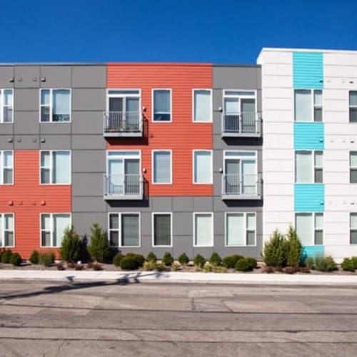 Street view of Gantry Apartments in Cincinnati, Ohio