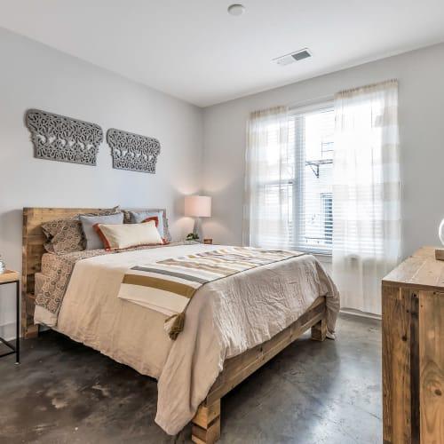Bedroom at Gantry Apartments in Cincinnati, Ohio