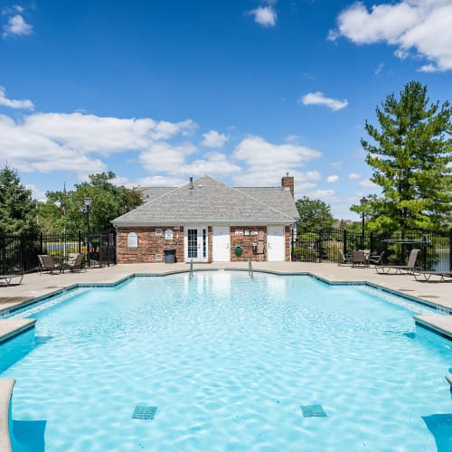 Sparkling pool at Lakefront at West Chester in West Chester, Ohio