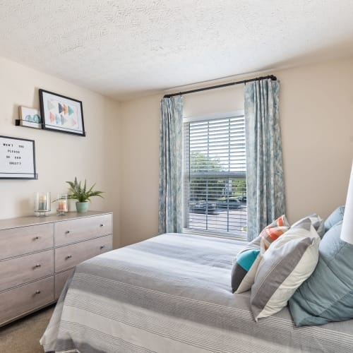 Bright bedroom at Lakefront at West Chester in West Chester, Ohio