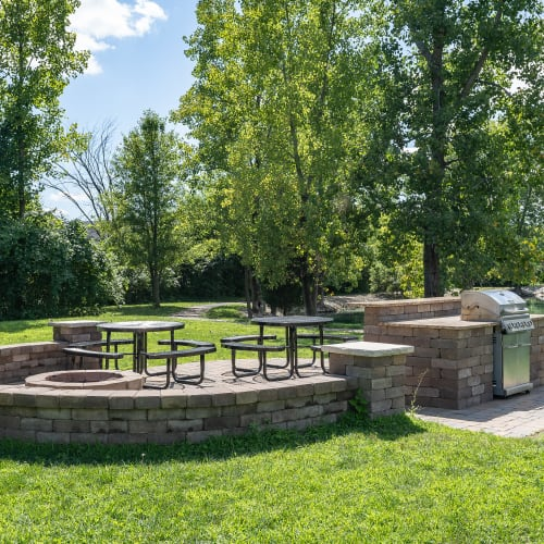 Picnic area at Lakefront at West Chester in West Chester, Ohio