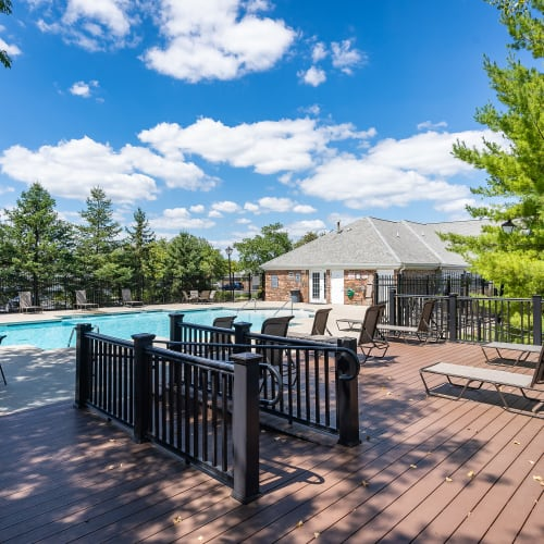 Resort inspired pool at Lakefront at West Chester in West Chester, Ohio