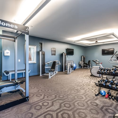 Workout center at Latitude at Deerfield Crossing in Mason, Ohio