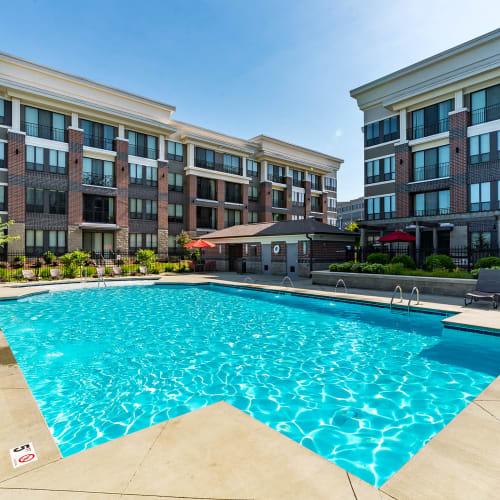 Resort-inspired pool at Latitude at Deerfield Crossing in Mason, Ohio