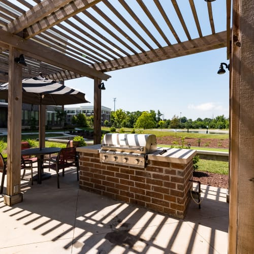 Shaded grill area at Latitude at Deerfield Crossing in Mason, Ohio