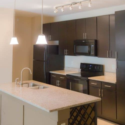 Modern kitchen at Latitude at Deerfield Crossing in Mason, Ohio