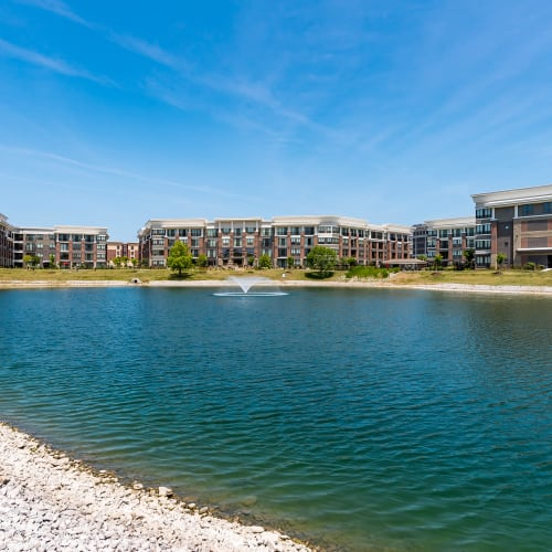 Lakeside views at Latitude at Deerfield Crossing in Mason, Ohio