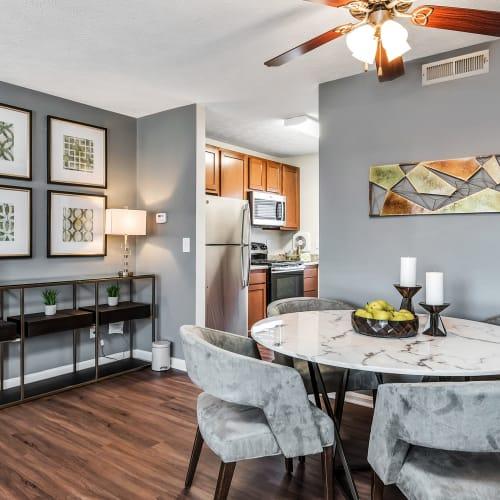 Dining area in a model home at Mallard Lakes Townhomes in Cincinnati, Ohio