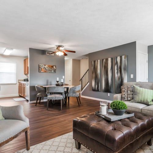 Living area at Mallard Lakes Townhomes in Cincinnati, Ohio