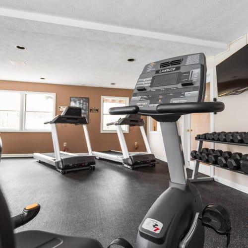 Workout space at Mallard Lakes Townhomes in Cincinnati, Ohio