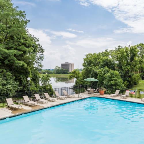 Resort-inspired pool at Mallard Lakes Townhomes in Cincinnati, Ohio