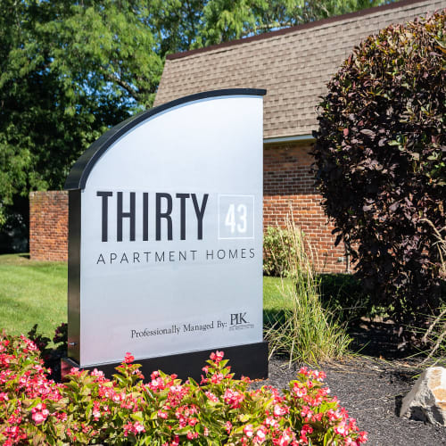 Welcome Sign at  Thirty43 by the Greene in Kettering, Ohio