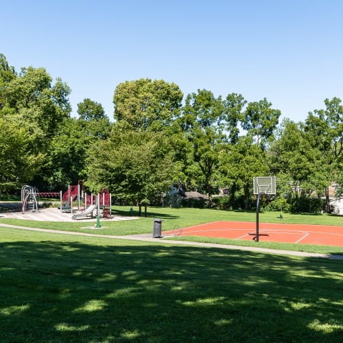 Basketball court and playground at Thirty43 by the Greene in Kettering, Ohio