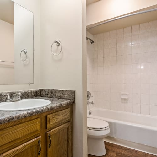 Modern bathroom at Thirty43 by the Greene in Kettering, Ohio