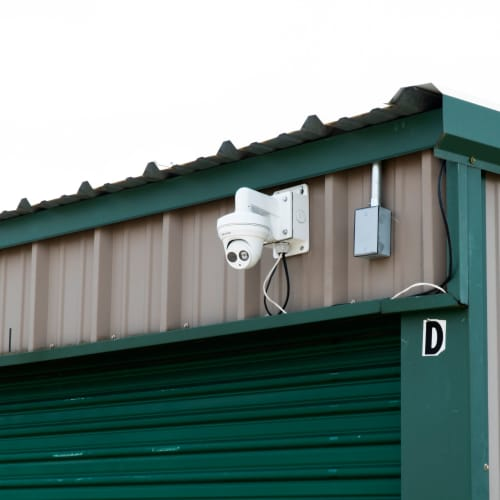 Security cameras at Red Dot Storage in Denham Springs, Louisiana