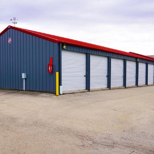 Outdoor units at Red Dot Storage in Cedar Falls, Iowa