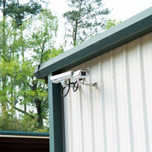 Digital surveillance cameras at Red Dot Storage in Mandeville, Louisiana