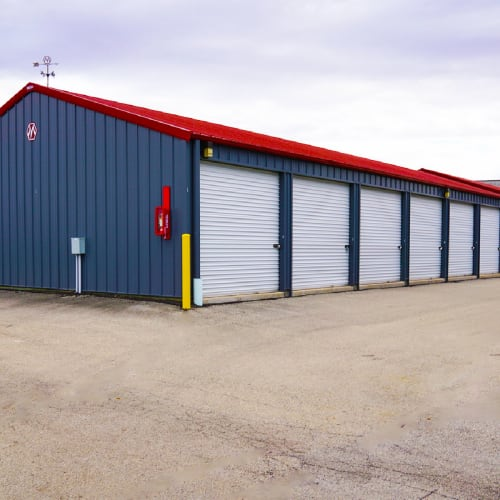 Outdoor units at Red Dot Storage in Marshall, Michigan