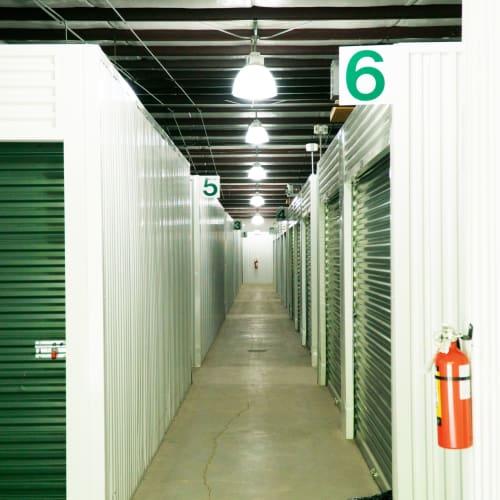 Indoor storage at Red Dot Storage in Ponchatoula, Louisiana
