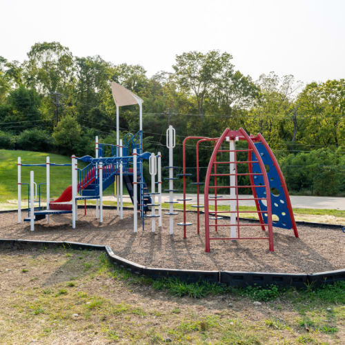 The children's playground with a slide at Vantage Pointe West Apartments in Cincinnati, Ohio