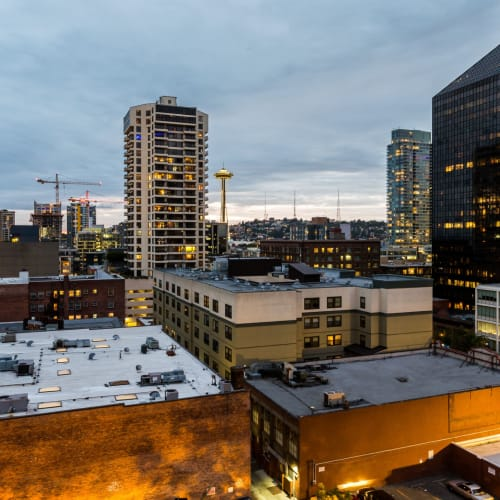 Views from the rooftop at Marq 211 in Seattle, Washington
