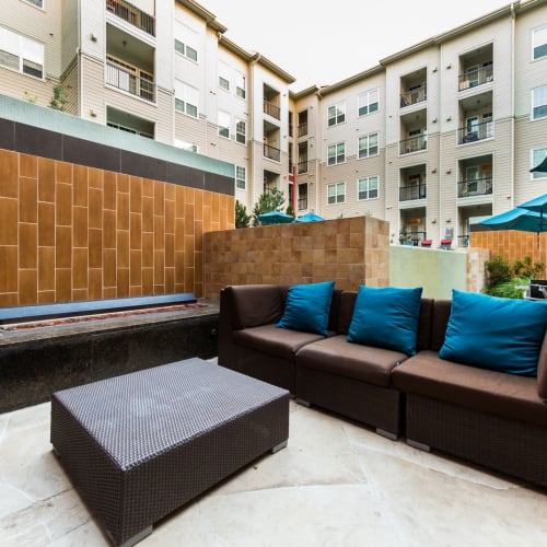 Outdoor lounge at The Marq at Ridgegate in Lone Tree, Colorado