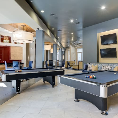 Game room at The Marq at Ridgegate in Lone Tree, Colorado
