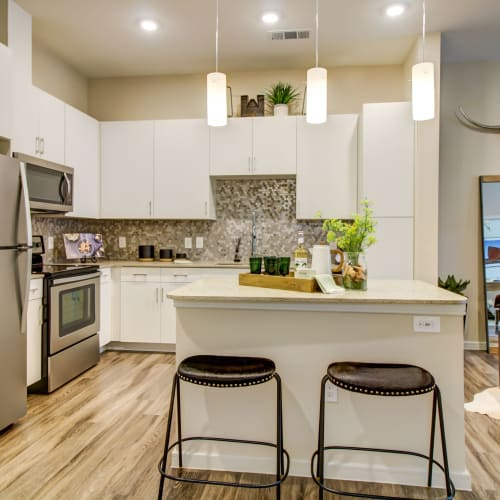 Fully equipped kitchen at Westerly 360 in Austin, Texas