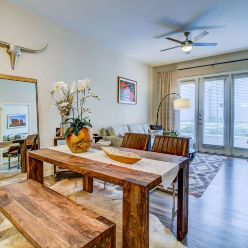 Dining room at Westerly 360 in Austin, Texas