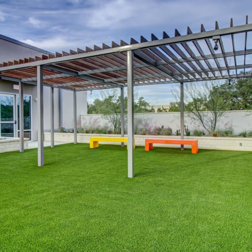 Lush landscaping at Westerly 360 in Austin, Texas
