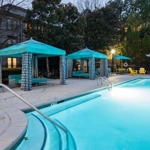 Sparkling, resort-style swimming pool at Marq Perimeter in Atlanta, Georgia