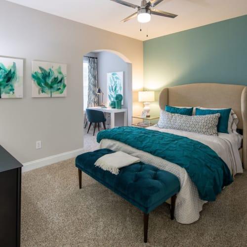 Cozy bedroom at Marq Perimeter in Atlanta, Georgia
