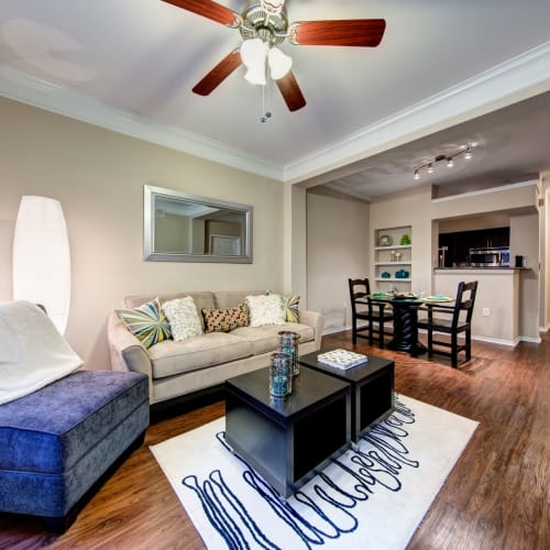 Living room at Marquis on Gaston in Dallas, Texas