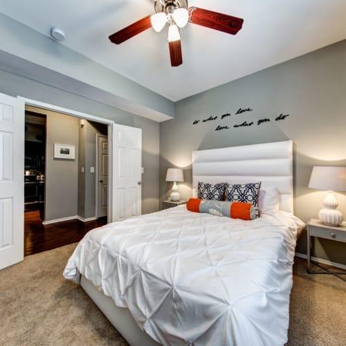 Cozy bedroom at Marquis on Gaston in Dallas, Texas