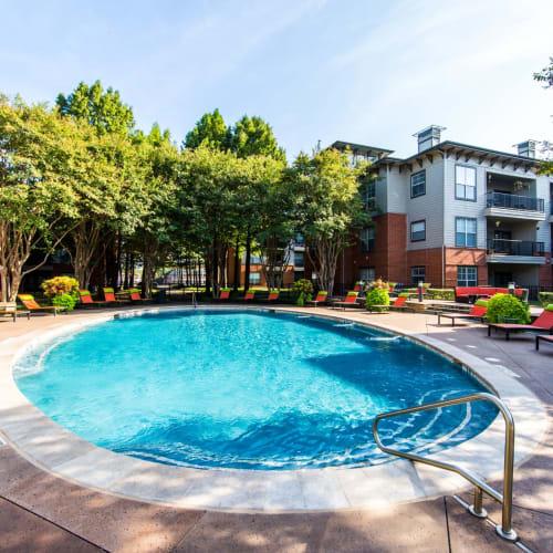 Circular swimming pool at Marquis on Gaston in Dallas, Texas
