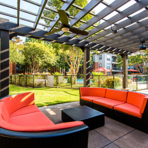 Outdoor lounge at Marquis on Gaston in Dallas, Texas