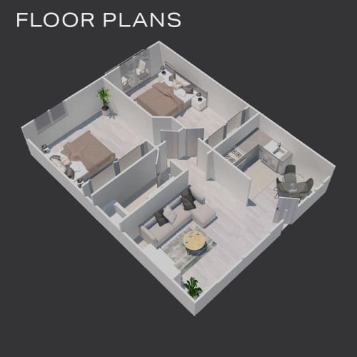 Click to view our floor plans of The Diplomat in Studio City, California