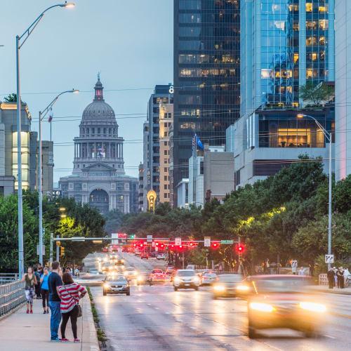 Downtown Austin, Texas near SoCo on The Lake