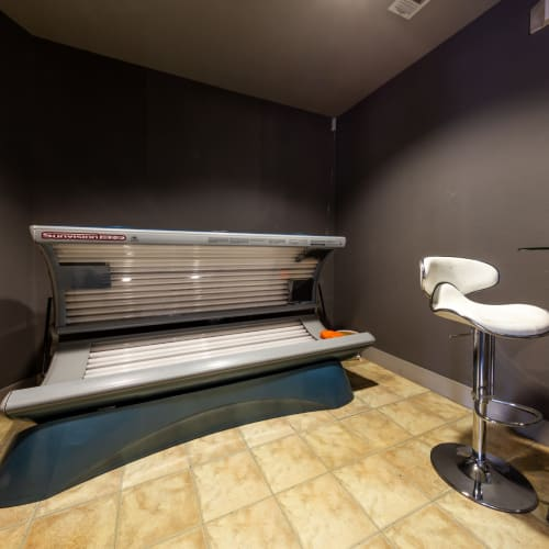 Tanning bed at The Marquis of State Thomas in Dallas, Texas
